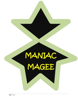 MANIAC MAGEE - READING COMPREHENSION QUIZ AND STORY ELEMENTS