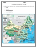 MAP ACTIVITY FOR CHINA