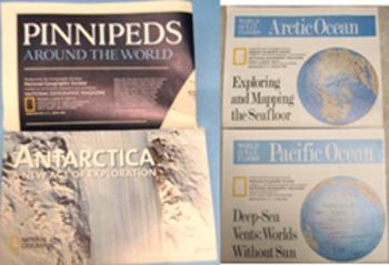 MAP Arctic Atlantic Pacific Indian Ocean ANTARCTICA PINNIPEDS seafloor GEOGRAPHY