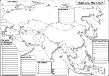 Blank Map Of Asia Quiz.Map Bundle Asia Whole Labeled Unlabeled Word Blank Quiz Coloring 4