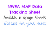 MAP Data Tracking in Google Sheets