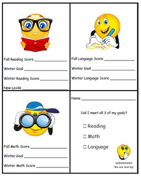 MAP Goal Sheets for Students