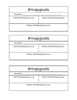 MAP Goal Sheets for Winter 2018 Math and ELA