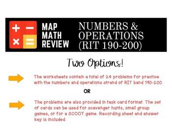 MAP Math Bundle: (RIT Bundle 190-200)