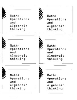 MAP assessment Math DesCartes - Operations and Algebraic Thinking