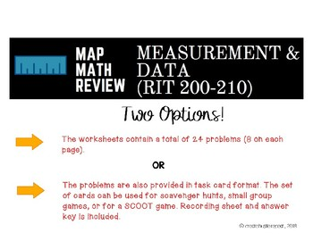 MAP Math Test Review: Measurement and Data (RIT Band 200-210)