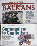 MAP NATIONAL GEOGRAPHIC Russia Communism Capitalism ECONOMICS Balkans refugees