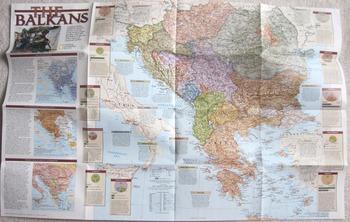 MAP NATIONAL GEOGRAPHIC Russia Communism Capitalism ECONOMICS Balkans refugees