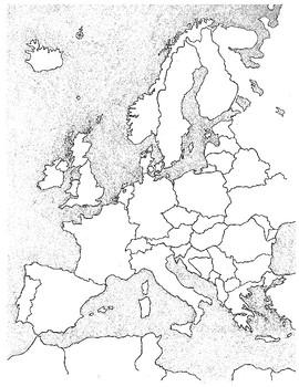 BLANK MAP OF EUROPE! Fun coloring/labeling activity for all ages!