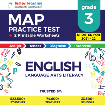 graphic relating to 3rd Grade Language Arts Assessment Printable named Missouri Analysis Computer software (MAP) Prepare Examine - Quality 3 ELA Verify Prep