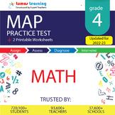 Online MAP Practice test, Printable Worksheets, Grade 4 Ma