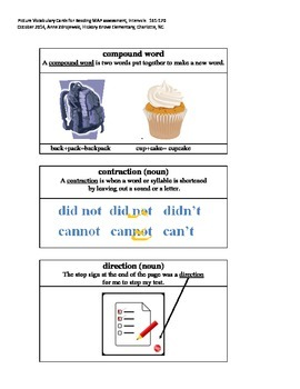 MAP Reading Picture Vocabulary Cards 161-170