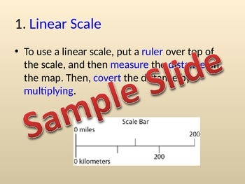 MAP SCALES Lesson, Note, and Activity