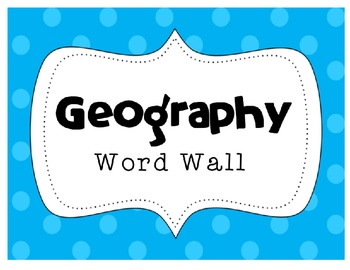 MAP SKILLS Geography Word Wall Bank ~Correlates with virtually ALL curriculum!~