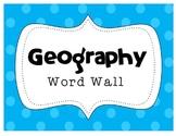 MAP SKILLS Geography Word Wall Bank ~Correlates with virtu