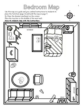 MAP SKILLS - MAPPING IT OUT - 2 BEDROOM ACTIVITIES and ...