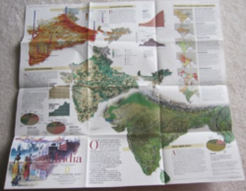 MAP South Asia Afghanistan Myanmar India Indonesia National Geographic geography