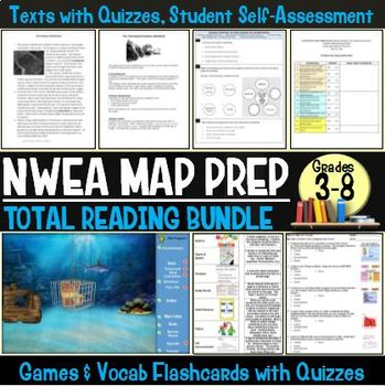 MAP TEST Reading NWEA Complete Bundle (ALL RIT Quizzes and Games)