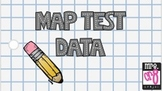 MAP TEST DATA BINDER COVER AND DIVIDERS