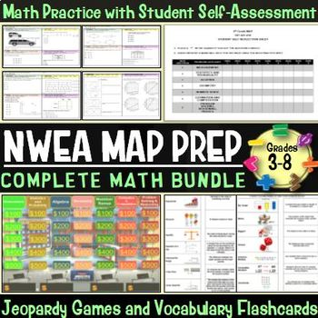 MAP TEST MATH NWEA ALL RITs 191-240 (3rd-8th Grade) Quizze