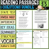 Reading Comprehension Passages with Questions Bundle 3rd-5th