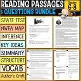 Reading Comprehension Passages with Questions Bundle 6th-8th