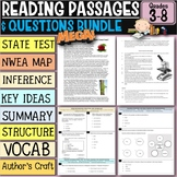 Reading Comprehension Passages and Questions Bundle 3rd-8th
