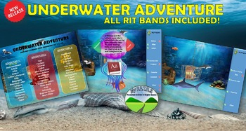 MAP TEST READING NWEA VOCAB GAME BUNDLE- Underwater Adventure (ALL RITs 141-260)