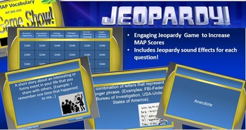 MAP TEST READING VOCABULARY GAME - Game Show PREVIEW)