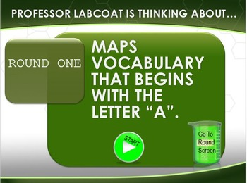 MAP TEST READING VOCABULARY GAME - Professor Labcoat (RIT 171-180)