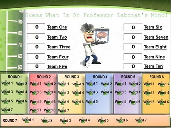 MAP TEST READING VOCABULARY GAME - Professor Labcoat (RIT 181-190)