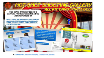MAP TEST READING NWEA VOCAB GAME - Shooting Gallery  All R