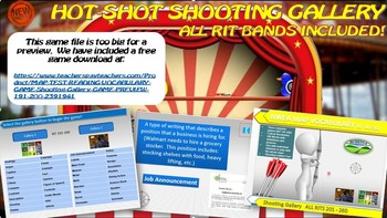 MAP TEST READING VOCABULARY GAME - Shooting Gallery FREE GAME PREVIEW 191-200