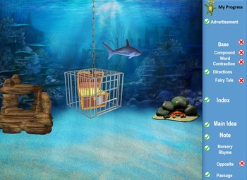 MAP TEST READING VOCABULARY GAME - Underwater Adventure GAME PREVIEW 141-170)