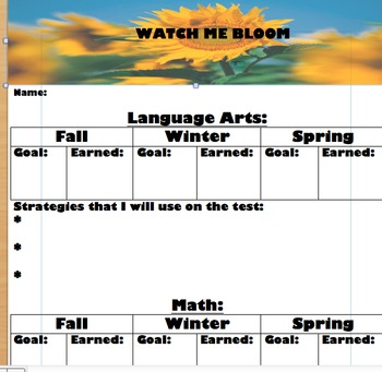 NWEA MAP TEST RECORD SHEET