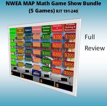 MAP TESTING NWEA MATH JEOPARDY GAME (FULL-PREVIEW)