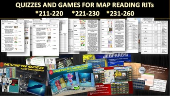 MAP THREE RIT READING QUIZZES AND SIX GAME BUNDLE (211-220