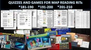 MAP THREE RIT READING QUIZZES AND SIX GAME BUNDLE (181-190