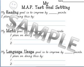 MAP Test Goal Setting Sheet