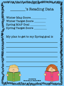 MAP Test Goal Setting Worksheet Winter to Spring