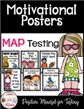 MAP Test Motivational Posters by Tales of a Teacher | TpT