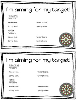 MAP Test Target Sheets