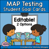 MAP Testing Student Goal Cards (Editable!)