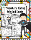 MAP Testing Superhero Coloring Sheets