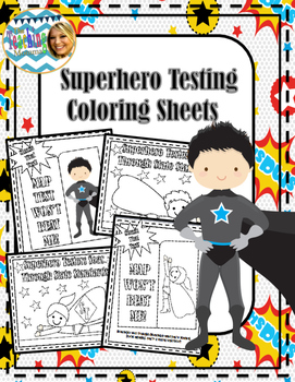 MAP Testing Superhero Coloring Sheets