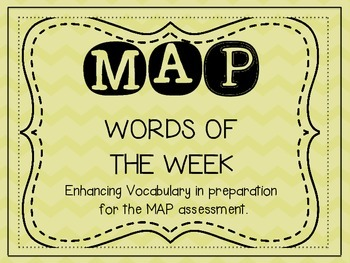 MAP Words of the Week {Enhancing Vocabulary }