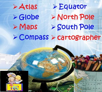 maps and globes geography interactive powerpoint lesson by teo