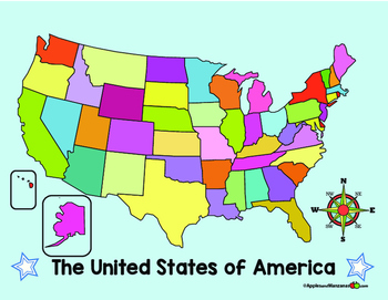 Map Of Usa With Compass Us Map Compass | Time Zone Map