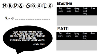 MAPS Goal Card Freebie