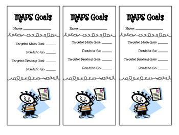 MAPS Goal Setting Bookmarks